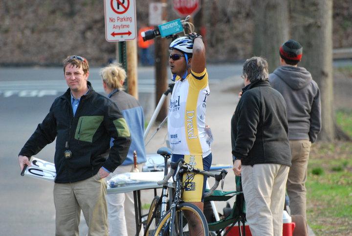 Yale 2010 finish line.