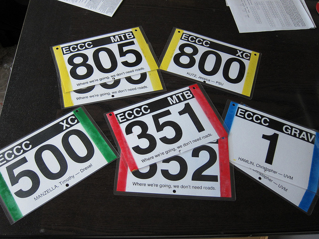Personalized 2010 MTB plates.